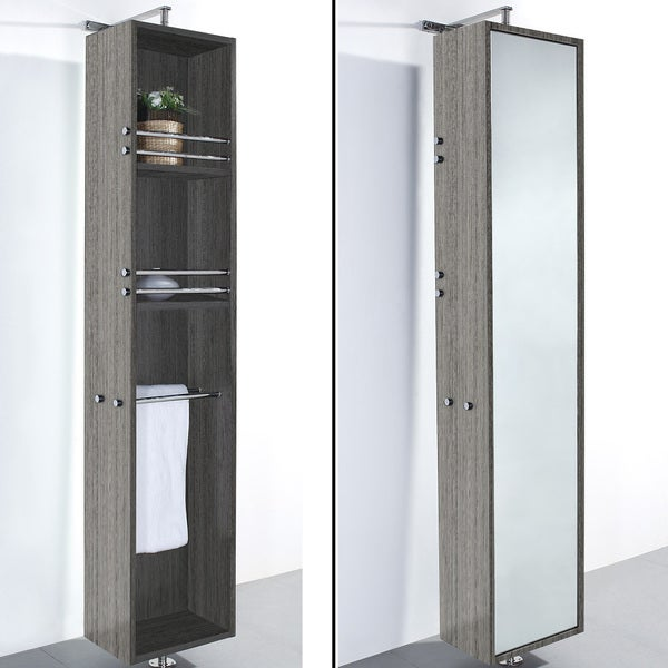 Wyndham Collection 'April' Linen Tower/ Rotating Floor Cabinet ...