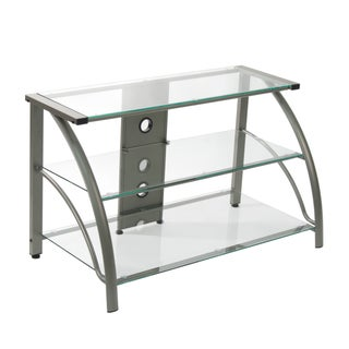 Calico Designs Stilleto TV Stand (Option: Clear - Pewter Finish)