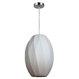 Legion Furniture 10-inch White Cocoon Ceiling Pendant