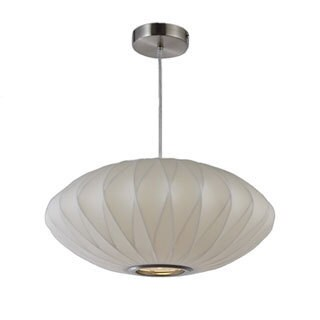 Legion Furniture 18-inch White Oval Cocoon Ceiling Pendant
