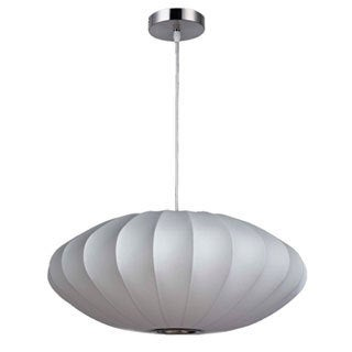 Legion Furniture 30-inch White Oval Cocoon Ceiling Pendant