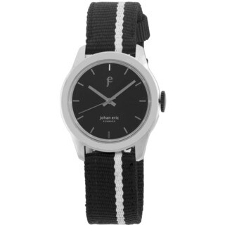 Johan Eric Men's Naestved Sporty Stainless Steel and Canvas Strap Watch