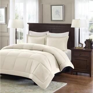 madison park belford microcell down alternative 3piece comforter set option grey