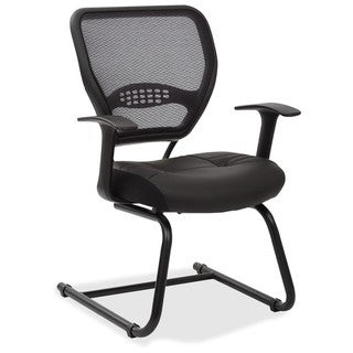 Visitors Chair with Bonded Leather Seat