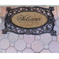 First Impression Rubber and Coir Copper Welcome Mat