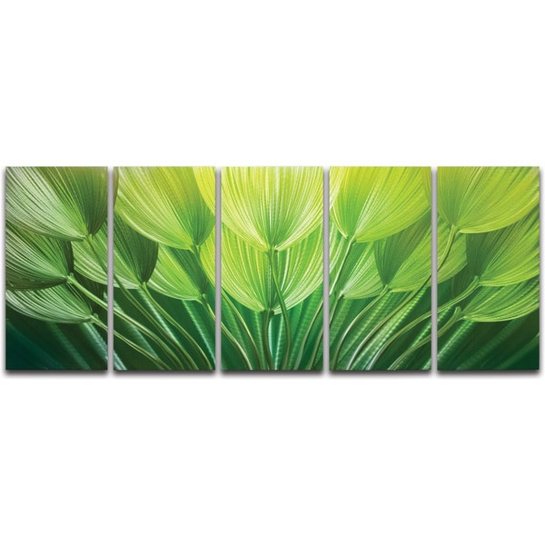 "Family Metal Wall Art shades of green' metal wall art 24"" x 59"" - free shipping today"