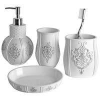 Vintage White 4-piece Bathroom Accessory Set