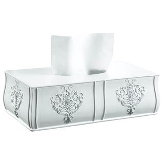 Vintage White Rectangular Tissue Box