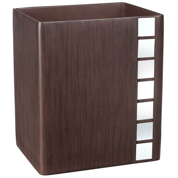 Marquee Brown Mirrored Wastebasket