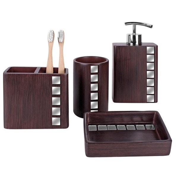 Marquee 4-piece Bath Accessory Set