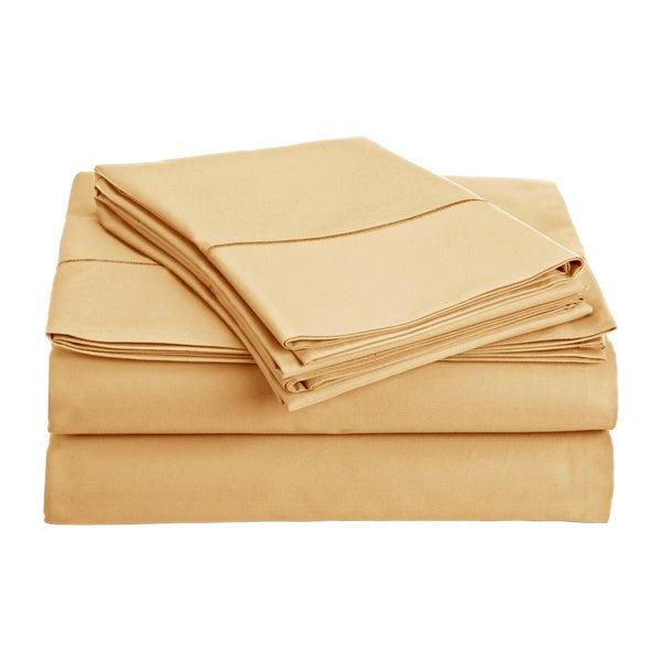 Navy Blue Stripe Luxury 4Pcs sheet set Extra Deep Pocket Egyptian Cotton