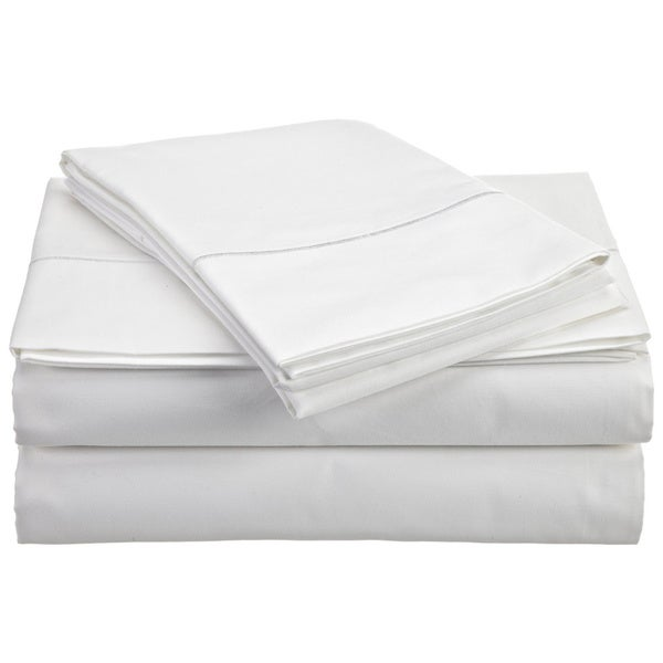 Duvet Set+Extra Deep Pocket Fitted Sheet White Solid All UK Sizes 1000 TC Cotton