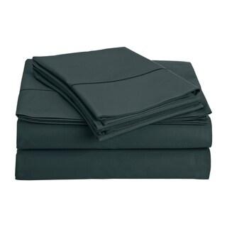 Luxury Solid Egyptian Cotton 800 Thread Count Deep Pocket Sheet Set (California King - Dark Denim)