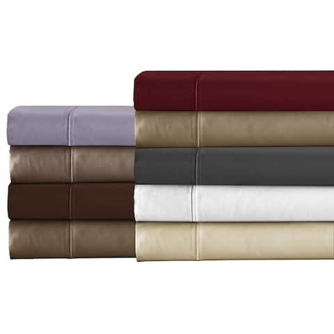 Luxury Solid Egyptian Cotton Sateen Weave 800 Thread Count Deep Pocket Pure Cotton Sheets Set