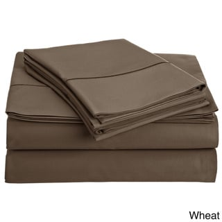 Luxury Solid Egyptian Cotton 800 Thread Count Deep Pocket Sheet Set (Queen - Wheat)