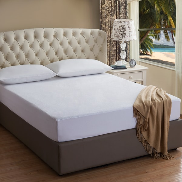 Shop Waterproof Terry Mattress Protector On Sale Free