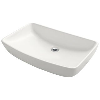 MR Direct Rectangular Porcelain Vessel Sink