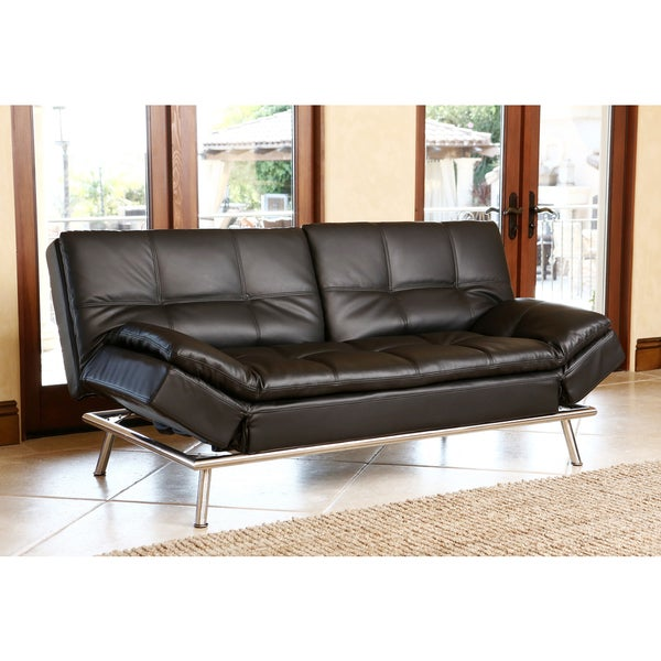 shop abbyson marquee black convertible sofa free shipping today rh overstock com