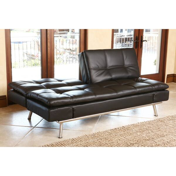 Superb Shop Abbyson Marquee Black Convertible Sofa Free Shipping Bralicious Painted Fabric Chair Ideas Braliciousco