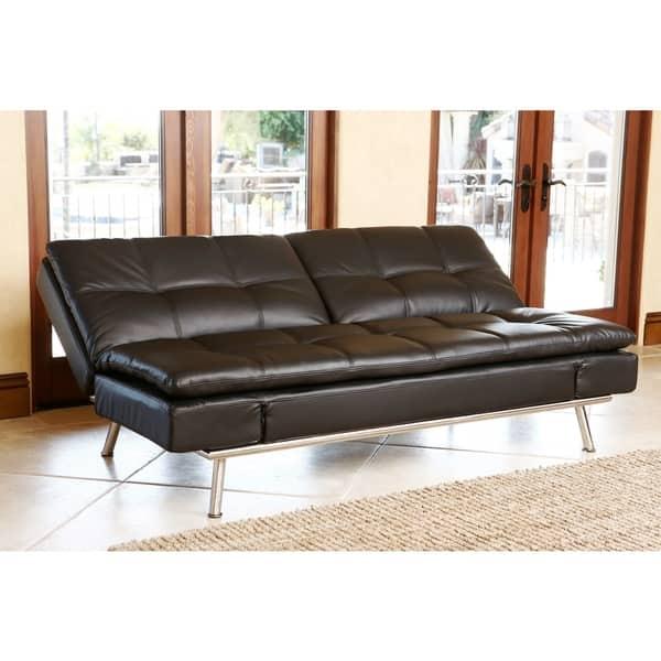 Shop Abbyson Marquee Black Convertible Sofa - Free Shipping Today ...