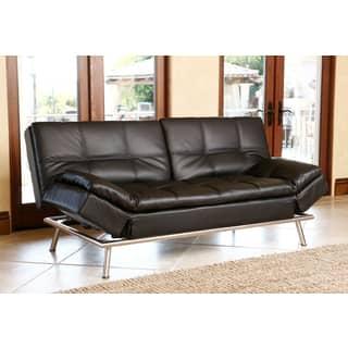 Abbyson Marquee Black Convertible Sofa|https://ak1.ostkcdn.com/images/products/9552449/P16733219.jpg?impolicy=medium