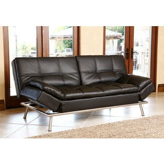 Abbyson Marquee Black Convertible Sofa