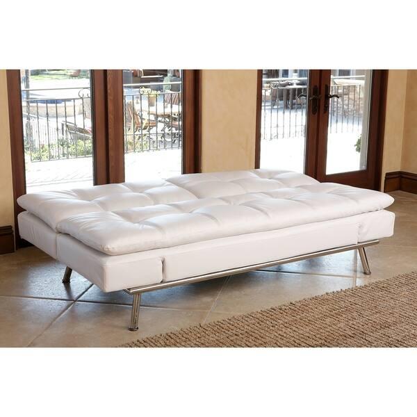 Brilliant Shop Abbyson Marquee White Convertible Sofa Free Shipping Bralicious Painted Fabric Chair Ideas Braliciousco