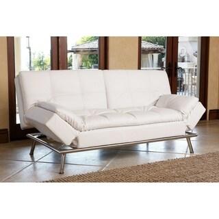 Abbyson Marquee White Convertible Sofa