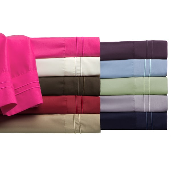 Luxury Soft Embroidered Wrinkle-free 4-piece Sheet Set