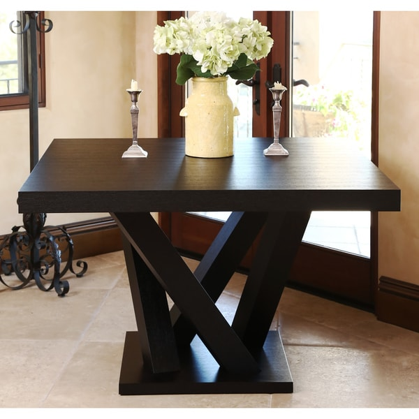 Abbyson Cosmo Espresso Wood Square Dining Table