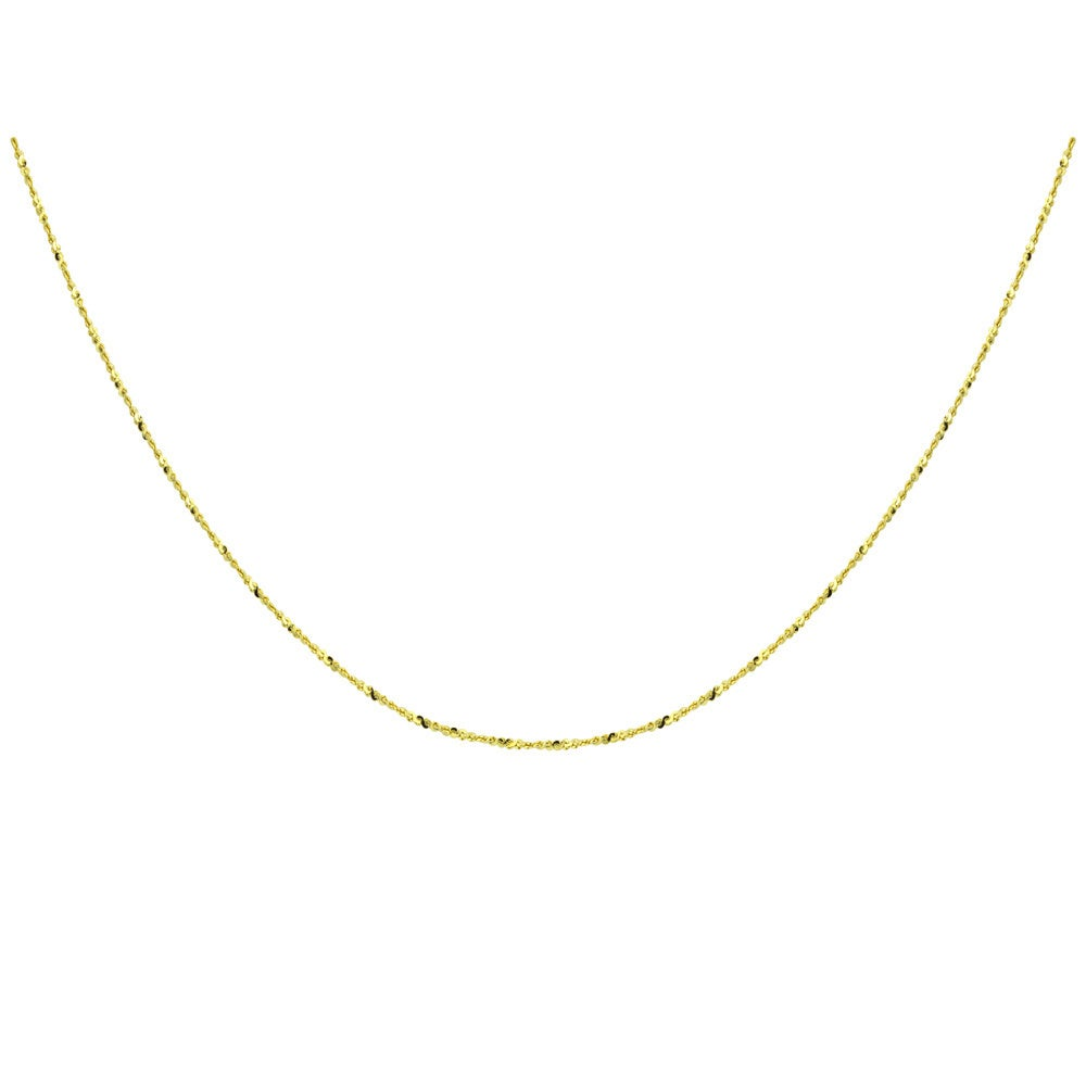 14K White Gold .75mm Rope 18 Chain