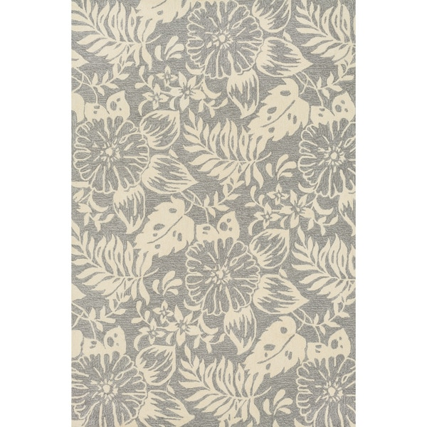 Hand-hooked Charlotte Grey/ Ivory Rug (2'3 x 3'9) - Free ...