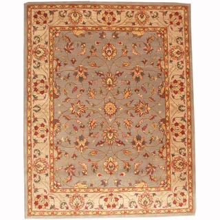 Herat Oriental Persian Indo Hand-tufted Tabriz Blue/ Ivory (8' x 10')