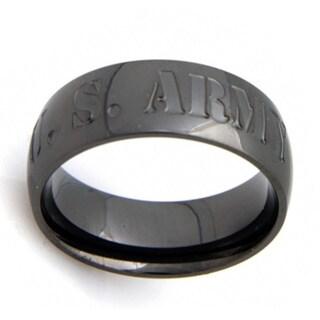 US Army Stainless Steel Gunmetal Ring