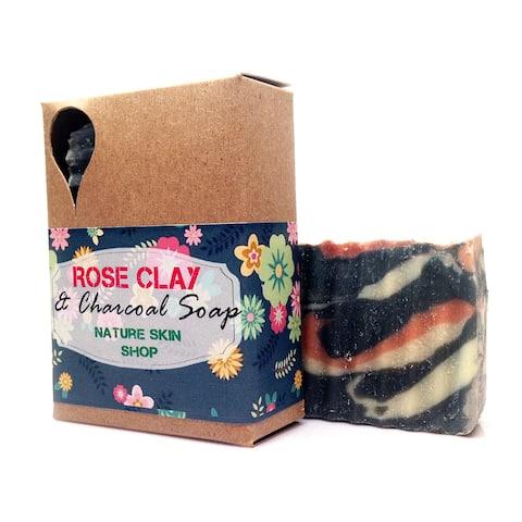 Handmade Frankincense with Myrrh Rose Clay Charcoal Soap
