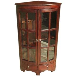 D-Art Mahogany Wood Corner Cabinet