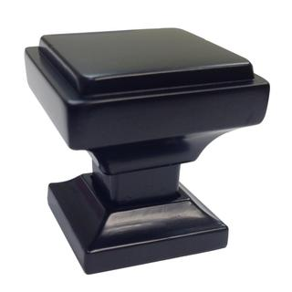 Southern Hills Square Black Cabinet Knob (Pack of 10)