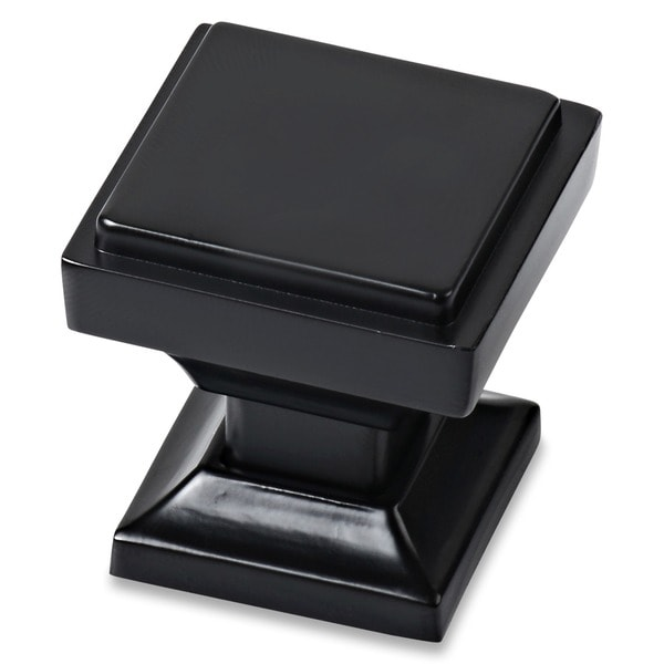 Southern Hills Square Black Cabinet Knob (Pack of 25)
