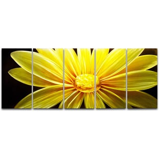 Sunflower at Night' XL Metal Wall Art 24 x 59 in