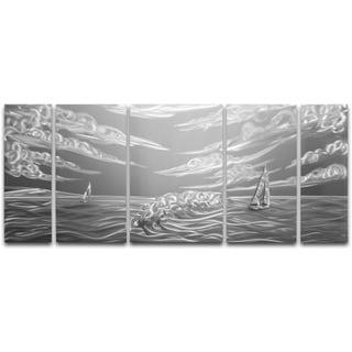 Stormy Sail' XL Metal Wall Art 24 x 55 in