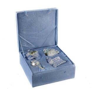 Kurt Adler Noble Gems Glass Baby Boy Ornament Set