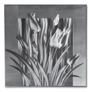 Silver Tulips' Medium Metal Wall Art 24 x 24 in