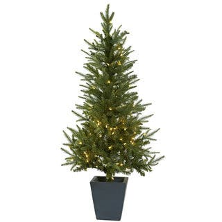 4.5 Foot Tree w/Clear Lights and Planter|https://ak1.ostkcdn.com/images/products/9552698/P16733435.jpg?impolicy=medium