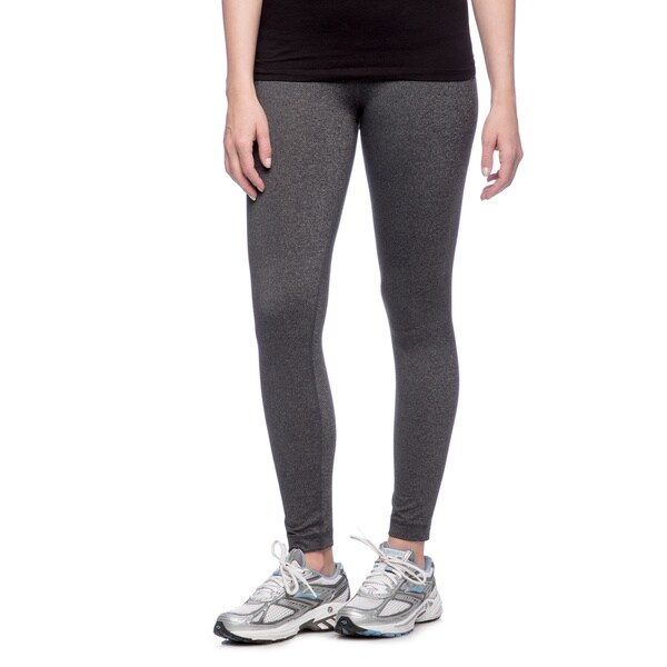 f2e154cfa6241 Shop RBX Activewear Women's Charcoal Heather Yoga Leggings - Free ...