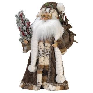 Kurt Adler 18-inch Jacqueline Kent Woodland Standing Santa