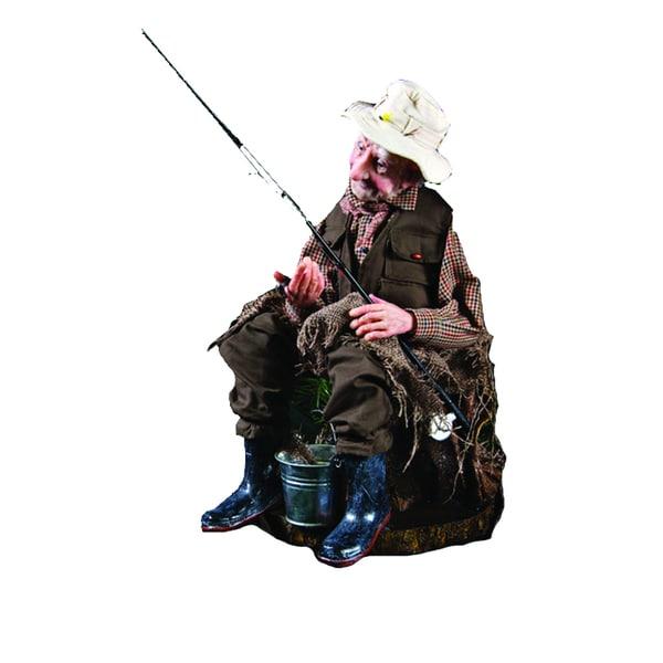 Kurt Adler 18-inch Jacqueline Kent Fisherman Rod Decoration