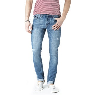 Simple Living High Thinking Jeans Men's 'Orlando' Medium Blue Jeans
