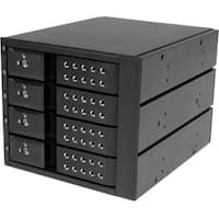 StarTech.com 4 Bay Aluminum Trayless Hot Swap Mobile Rack Backplane f