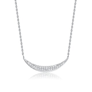Collette Z Sterling Silver and Cubic Zirconia Necklace