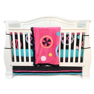 One Grace Place Magical Michayla 4-piece Crib Bedding Set